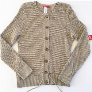 Light Brown Knit Button Sweater/Cardigan